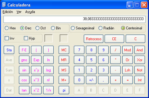 descargar calculadora windows xp