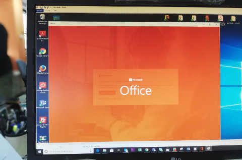 Office 365 desplegado en un PC de un usuario.